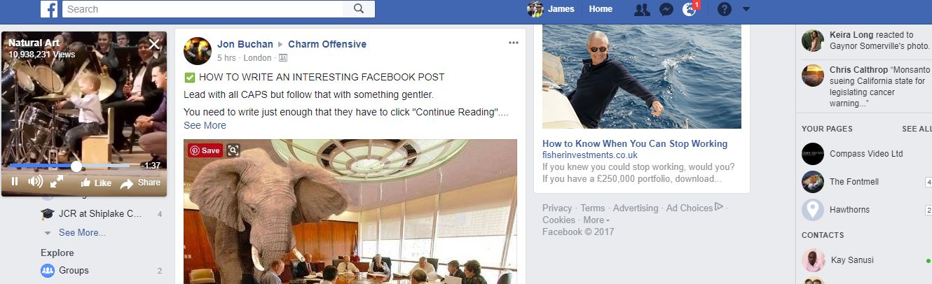 Changes ot the facebook video feed