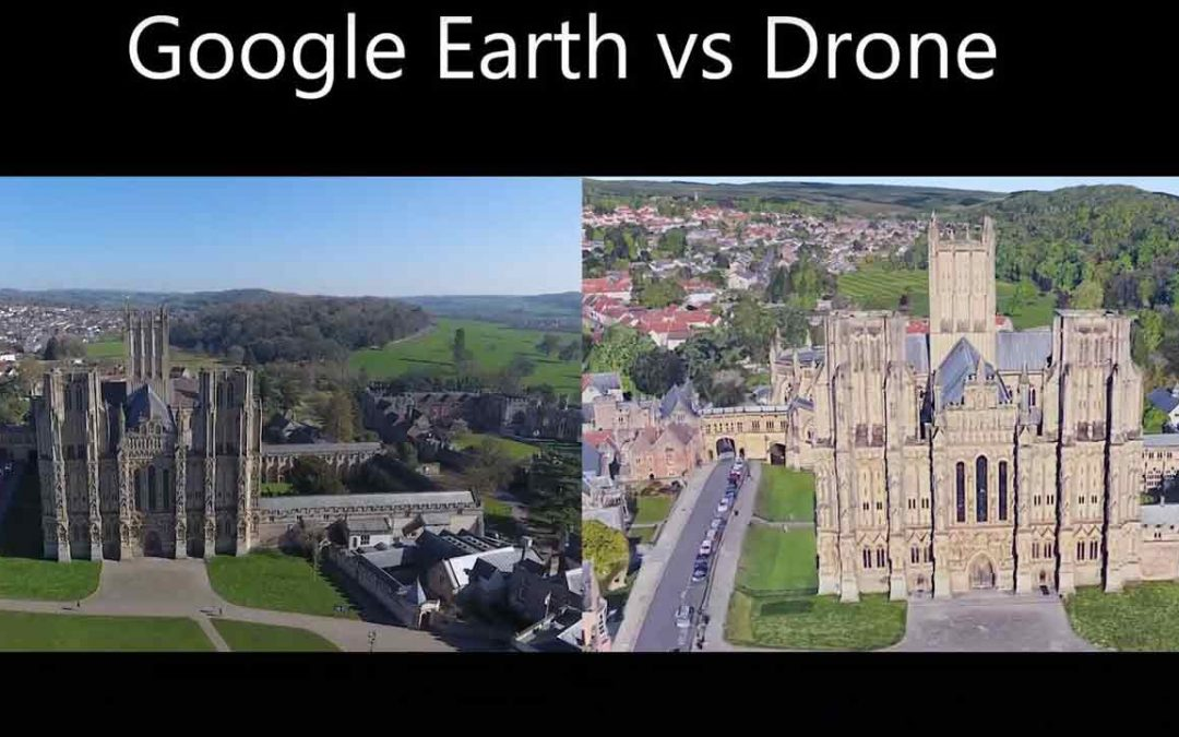 Putting Google Earth Studio Footage against Drone Footage Side by Side – A bit of fun
